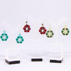 Flora earrings/beaded earrings/High-end earrings/Statement beaded earrings/