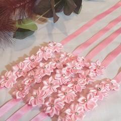 Hair Accessories Flower Ribbon Medium