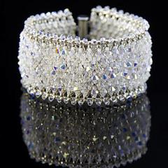 Swarovski Bracelet/bridal bracelet/Wedding Bracelet for Bride/ID