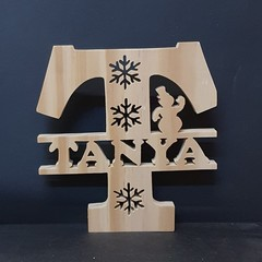 Scroll Saw Name Plaque