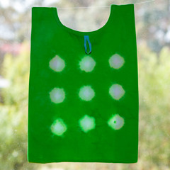 Tie dyed reusable foldable shopping bag