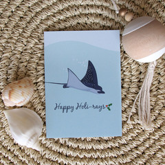 Christmas Card - Spotted Eagle Ray