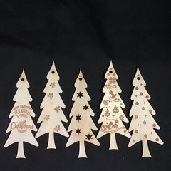 Snowflake tree- set of 5