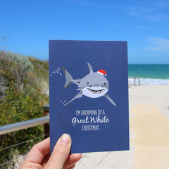 Christmas Card - Great White Shark