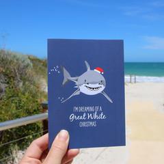 Christmas Card - Great White Shark