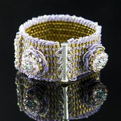 "Handmade Bracelet/beaded bracelet""Sophistication""/Swarovski crystal bracelet/"