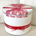 Christmas Decorated White Gift Hat Box