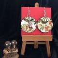 Handmade earrings made with Japanese handmade paper.
