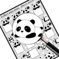 Pandabear Planner Transparent Glossy stickers Free shipping