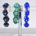Bracelets for women/Gift for bride/Floral Bracelet/Floral & Crystal Bracelet