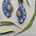 Polymer clay earrings - statement earrings Daisies