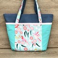 Australian Birds - Large Lined  Tote Bag