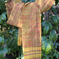 Autumn Gold Handwoven Scarf