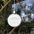 ADD-Print to LARGE BAUBLE - Double sided - LIMITED EDITION