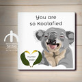 Customisable - Ceramic coaster - KOALA - Teacher's Gift | Souvenir