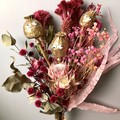 """""""Mary Poppies"""" Dried flowers bouquet - Natural - Poppies  - Gold & pink"""