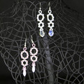 Drop Earrings/Long dangle earrings/Fashion earrings/Beaded dangle earrings