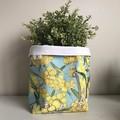 Small fabric planter | Storage basket | WATTLE GUM NUT BABIES