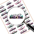Inspirational Quote Planner Transparent Glossy stickers Free shipping