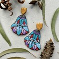 Polymer clay earrings - statement earrings Flora