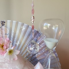 Cherry Blossom Suncatcher + Gift Bag - Lead crystal & glass -pink, blush & rose