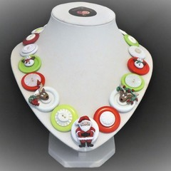 Christmas necklace -  Santa and Friends