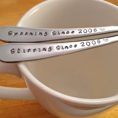 Custom Years Spooning,Stirring, Anniversary Custom Gift, husband, wife
