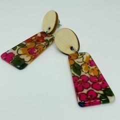 Acrylic floral earrings