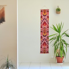 Red Ikat wall hanging