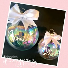 Holographic Glass Christmas Bauble - LOCAL PICK UP ONLY