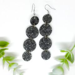 Charcoal Terazzo Vinyl earrings
