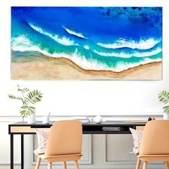 Original ocean resin artwork