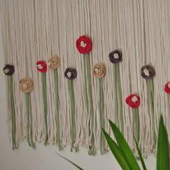 Large Flower Garden Macrame Wall Hanging