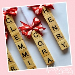 Scrabble Letter Christmas Tree Decorations