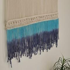 Blue Shade Macrame wall hanging