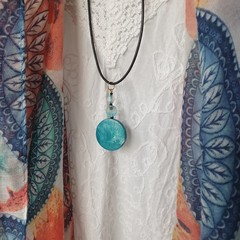 Palm Cove Hand Painted Pendant