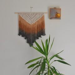 Brown and Black Macrame Wall Hanging, Large Macrame Wall Hanging, Boho Wall Hang