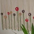 Large Flower Garden Macrame Wall Hanging