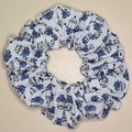 White with Blue Minion Scrunchy