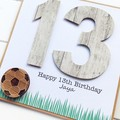 Personalised Soccer Birthday Card, Football Card, Any Age Card, Teen Card