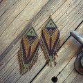 Handmade 12cm long drop earrings