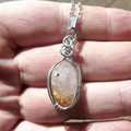 Citrine crystal pendant, Sterling silver wire wrapped
