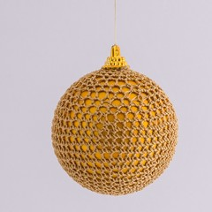 Gold on gold crocheted  Christmas decoration