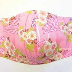 3 SIZE : 3 LAYER COTTON FACE MASK w/ FILTER POCKET + WITH/or/WITHOUT WIRE