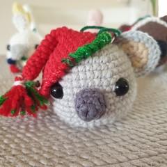 Crochet Christmas Koala Bauble