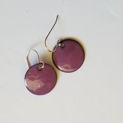 Dusky Pink Drops Enamel Earrrings
