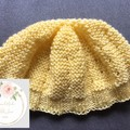 Baby Beanie 3-6 Months - Knitted