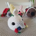 Crochet Christmas Cockatoo Bauble