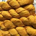 Recycled silk ribbon yellow gold 100 grams