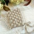 Fawn/Beige Crochet Newborn Baby Bobble Bonnet Beanie Hat 0-2 months.